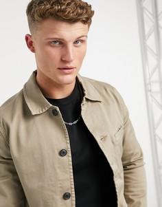 Куртка врабочем стиле Selected Homme Jake-Бежевый