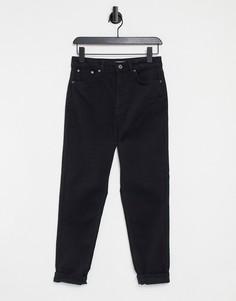 Голубые выбеленные джинсы прямого кроя Topshop Editor-Голубой