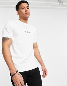 Белая футболка с вышивкой Fred Perry-Белый