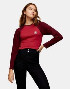 Красная футболка в университетском стиле Topshop-Коричневый цвет