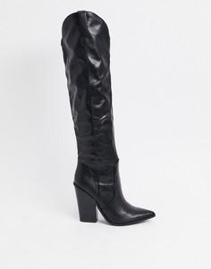 Черные ботфорты в стиле вестерн Steve Madden Ranger-Черный
