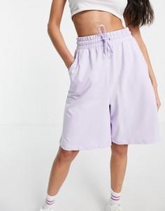 Удлиненные трикотажные шорты сиреневого цвета ASOS DESIGN-Фиолетовый цвет