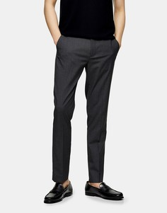 Темно-серые узкие брюки Topman Сonsidered-Серый