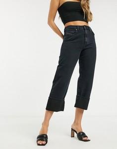 Прямые джинсы цвета индиго с отворотами Diesel-Голубой