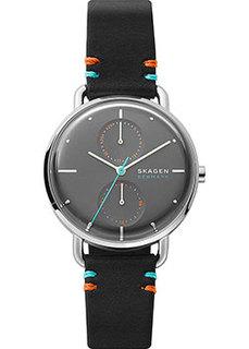 Швейцарские наручные женские часы Skagen SKW2930. Коллекция Leather