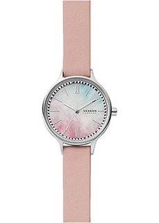 Швейцарские наручные женские часы Skagen SKW2976. Коллекция Leather