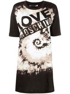 Love Moschino платье-футболка с принтом тай-дай и логотипом