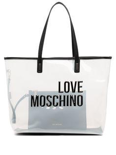 Love Moschino сумка-тоут с тисненым логотипом