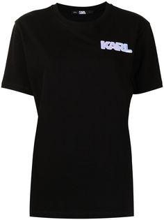 Karl Lagerfeld футболка с нашивкой-логотипом