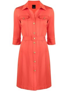 Pinko платье-рубашка на кнопках