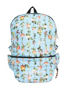Burberry Kids рюкзак-трансформер с цветочным принтом