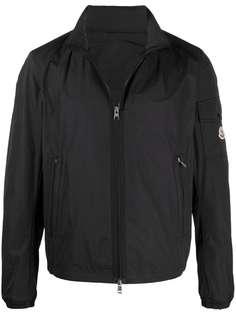 Moncler куртка на молнии с воротником-воронкой