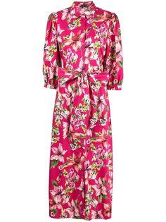 LIU JO платье-рубашка с цветочным принтом
