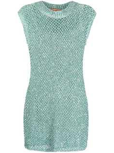 Missoni трикотажное платье с пайетками