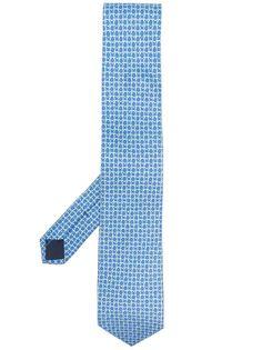 Salvatore Ferragamo галстук с узором Gancini