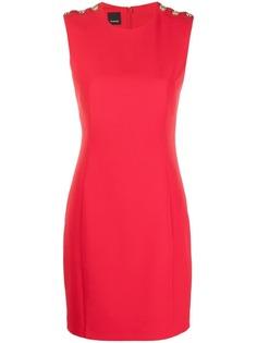 Pinko приталенное платье без рукавов