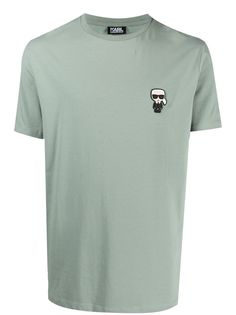 Karl Lagerfeld футболка Ikonik с аппликацией логотипа