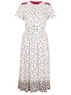 UNDERCOVER платье-рубашка с узором в горох
