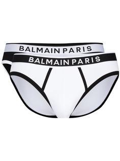 Balmain комплект из двух трусов-брифов с логотипом