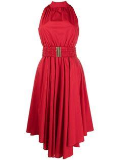 Michael Michael Kors платье миди с вырезом халтер