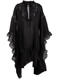 Cynthia Rowley платье-кафтан Skyler с кружевом