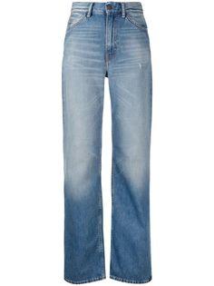 Acne Studios прямые джинсы с эффектом потертости