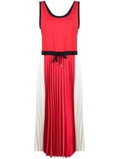 Tommy Hilfiger платье в стиле колор-блок с плиссированной юбкой