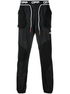Off-White спортивные брюки с логотипом