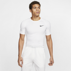 Мужская футболка с плотной посадкой и коротким рукавом Nike Pro - Белый