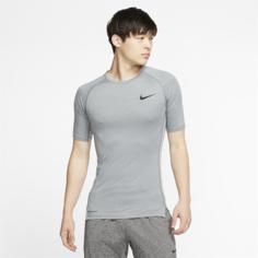 Мужская футболка с плотной посадкой и коротким рукавом Nike Pro - Серый