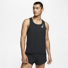 Мужская беговая майка Nike AeroSwift - Черный
