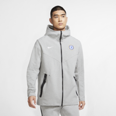 Мужская худи с молнией во всю длину Chelsea FC Tech Pack - Серый Nike