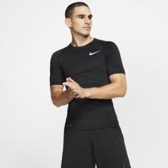 Мужская футболка с плотной посадкой и коротким рукавом Nike Pro - Черный