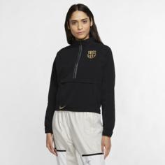 Женская футбольная куртка с молнией 1/4 FC Barcelona - Черный Nike