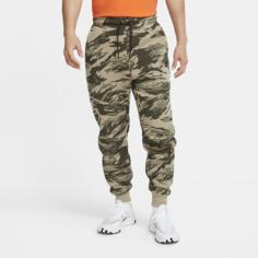 Мужские джоггеры с камуфляжным принтом Nike Tech Fleece - Серый
