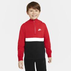 Худи с молнией на половину длины для мальчиков школьного возраста Nike Sportswear Club - Красный