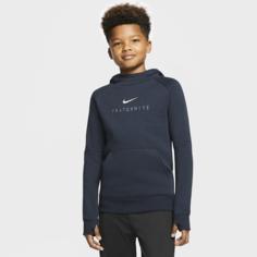 Футбольная флисовая худи для школьников FFF - Синий Nike