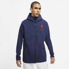 Мужская худи с молнией во всю длину с символикой Англии Tech Pack - Синий Nike