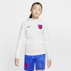 Футбольная флисовая худи для школьников England - Коричневый Nike