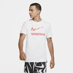 Мужская игровая футболка Croatia - Белый Nike