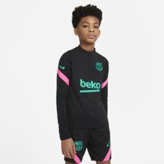 Футболка для футбольного тренинга для школьников FC Barcelona Strike - Черный Nike