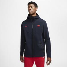Мужская худи c молнией во всю длину с символикой Франции Tech Pack - Синий Nike