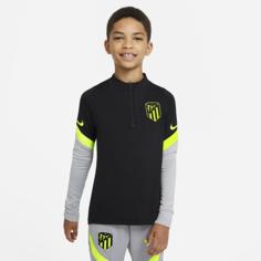 Футболка для футбольного тренинга для школьников Atlético de Madrid Strike - Черный Nike