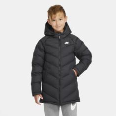 Удлиненная куртка с синтетическим наполнителем для школьников Nike Sportswear - Черный