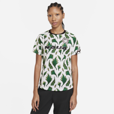 Женская предматчевая игровая футболка с коротким рукавом из формы сборной Нигерии - Белый Nike