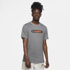 Мужская игровая футболка AS Roma - Серый Nike