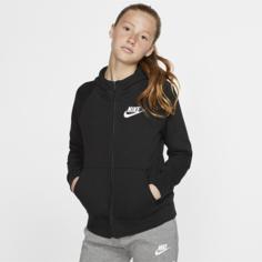 Худи с молнией во всю длину для девочек Nike Sportswear - Черный