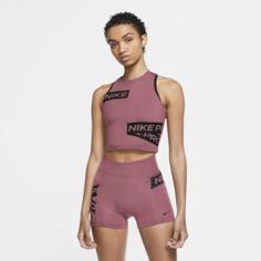 Женская майка с графикой Nike Pro - Розовый