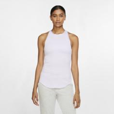 Женская майка Nike Yoga - Пурпурный