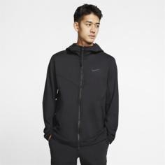 Мужская куртка с молнией во всю длину и капюшоном Nike Sportswear Tech Pack - Черный